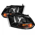 Dodge Ram 1500 Lighting Products - Dodge Ram 1500 Headlights - Spyder - Spyder® Black Euro Headlights (Non Quad Headlights) | 2009-2012 Dodge Ram 1500