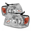 Lighting Products - Headlights & Bumper Lights - Spyder - Spyder® Chrome Euro Headlights | 2004-2008 Ford F-150