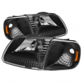 Lighting Products - Headlights & Bumper Lights - Spyder - Spyder® Black Euro Headlights w/Corner Lights | 1997-2003 Ford F-150