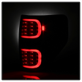 Spyder? Black Smoke Fiber Optic LED Tail Lights | 2009-2014 Ford F-150 | Dale's Super Store