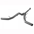 """Full Exhaust Systems - Downpipe Back Exhaust Systems - Flo~Pro - Flo~Pro 5"""" Downpipe Back Dual Exhaust no/Muffler   2011-2017 Ford Powerstroke 6.7L"""