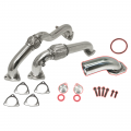 Shop By Vehicle - EGR Upgrades - Flo~Pro - Flo~Pro Polished Stainless Steel Up-Pipe Kit & EGR Intake Elbow | 2008-2010 6.4L Ford Powerstroke