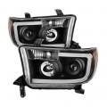 Lighting Products - Headlights & Bumper Lights - Spyder - Spyder® Black Projector Headlights w/LED U-Bar | 2007-2013 Tacoma / 2008-2013 Sequoia