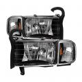 Lighting Products - Headlights & Bumper Lights - Spyder - Spyder® Black Factory Style Headlights w/Corner Lights | 1994-2001 Dodge Ram 1500