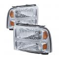 Diesel Truck Parts - Spyder - Spyder® Chrome Euro Headlights   2005-2007 Ford Super Duty