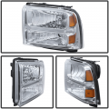 Spyder Chrome Euro Headlights | 2005-2007 Ford Super Duty | Dale's Super Store