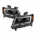 Chevrolet & GMC Trucks - 2014+ Chevy Colorado / GMC Canyon - Spyder - Spyder® Black U-Bar Projector Headlights w/LED Turn Signal | 2015-2018 Chevy Colorado