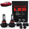 HID Headlight Kits by Bulb Size - H13 (9008) Headlight Kits - Outlaw Lights LED Headlight Kit | 2009-2014 Dodge Challenger | LOW BEAM | H13