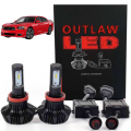 Lighting | 2007.5-2009 Dodge Cummins 6.7L - LED Bulbs | 2007.5-2009 Dodge Cummins 6.7L - Outlaw Lights - Outlaw Lights LED Headlight Kit | 2013-2015 Dodge Dart | HIGH/LOW BEAM | 9012