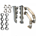 Exhaust Systems | 2007.5-2010 Chevy/GMC Duramax LMM 6.6L - Down Pipes & Up Pipes | 2007.5-2010 Chevy/GMC Duramax LMM 6.6L - Outlaw Diesel - Outlaw Diesel High Flow Manifolds & Up Pipes for 2001-2014 Chevy/GMC Duramax LB7/LLY/LBZ/LMM/LML 6.6L