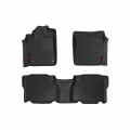 Interior - Floor Liners - Rough Country - Rough Country Heavy Duty Floor Mats (Front/Rear) | 2012-2013 Toyota Tundra