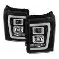 Lighting Products - Headlights & Bumper Lights - Spyder - Spyder® Black LED DRL Bar Projector Headlights | 2011-2016 Ford Super Duty