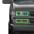 Chevrolet Silverado 2500/3500 Lighting Products - Chevrolet Silverado 2500/3500 RGB & Switchback (DRL Boards, Halos, & Demon Eyes) - Profile Pixel Performance - Profile Performance Prism Fitted Halos (RGB) | 1988-1999 Chevy Silverado