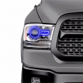 Lighting | 2013-2018 RAM Cummins 6.7L - RGB & Switchback (DRL Boards, Halos, & Demon Eyes) | 2013-2018 6.7L Dodge Cummins - Profile Pixel Performance - Profile Performance Prism Fitted Halos (RGB) | 2013-2017 Dodge Ram w/Projector Headlights