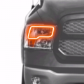 Dodge Ram 1500 Lighting Products - Dodge Ram 1500 RGB & Switchback (DRL Boards, Halos, & Demon Eyes) - Profile Pixel Performance - Profile Performance Prism Fitted Halos (RGB) | 2009-2016 Dodge Ram w/Quad Headlights