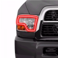 Lighting Products | Dodge Ram 2500/3500 - Dodge Ram 2500/3500 RGB & Switchback (DRL Boards, Halos, & Demon Eyes) - Profile Pixel Performance - Profile Performance Prism Fitted Halos (RGB) | 2009-2012 Dodge Ram w/Dual Headlights
