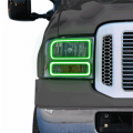 Lighting Products For Ford F-250 to F-550  - Rock Lights For Ford F-250 to F-550 - Profile Pixel Performance - Profile Performance Prism Fitted Halos (RGB) | 2005-2007 Ford Super Duty