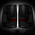 Gas Truck Parts - Dodge Ram 1500 - RECON - RECON Smoke LED Tail Lights | 09-14 Dodge Ram 1500 / 10-14 Ram 2500/3500
