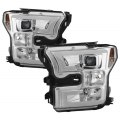 Lighting Products - Headlights & Bumper Lights - Spyder - Spyder® Chrome LED U-Bar Projector Headlights | 2015-2017 Ford F-150