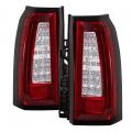 Lighting Products - Tail Lights - Spyder - Spyder® Chrome/Red LED Tail Lights | 2015-2017 Chevy Suburban, Tahoe / GMC Yukon