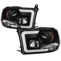 Lighting Products - Headlights & Bumper Lights - Spyder - Spyder® Black LED DRL Bar Projector Headlights | 2009-2016 Dodge Ram