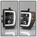 Spyder Black LED DRL Bar Projector Headlights | 2008-2010 Ford Super Duty | Dale's Super Store