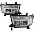 Toyota Tundra Landing Page - Toyota Tundra Lighting Products - Spyder - Spyder® Chrome LED DRL Bar Projector Headlights | 2007-2013 Toyota Tundra/Sequoia