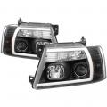 Lighting Products - Headlights & Bumper Lights - Spyder - Spyder® Black LED U-Bar Projector Headlights | 2004-2008 Ford F-150