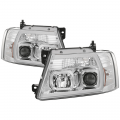 Ford F-150 Lighting Products - Ford F150 Headlights - Spyder - Spyder® Chrome LED U-Bar Projector Headlights | 2004-2008 Ford F-150