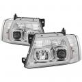 Lighting Products - Headlights & Bumper Lights - Spyder - Spyder® Chrome LED U-Bar Projector Headlights | 2004-2008 Ford F-150