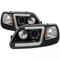 Ford F-150 Lighting Products - Ford F150 Headlights - Spyder - Spyder® Black LED U-Bar Projector Headlights | 1997-2003 Ford F-150