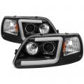 Lighting Products - Headlights & Bumper Lights - Spyder - Spyder® Black LED U-Bar Projector Headlights | 1997-2003 Ford F-150