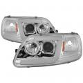 Lighting Products - Headlights & Bumper Lights - Spyder - Spyder® Chrome LED U-Bar Projector Headlights | 1997-2003 Ford F-150