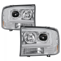 Lighting | Ford F250-F550  - Headlights For Ford F-250 to F-550 - Spyder - Spyder® Chrome LED U-Bar Projector Headlights | 1999-2004 Ford Super Duty
