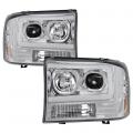 Lighting Products - Headlights & Bumper Lights - Spyder - Spyder® Chrome LED U-Bar Projector Headlights | 1999-2004 Ford Super Duty