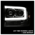 Spyder Chrome LED U-Bar Projector Headlights | 1999-2004 Ford Super Duty | Dale's Super Store
