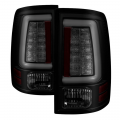 Lighting Products - Tail Lights - Spyder - Spyder® Black/Smoke Fiber Optic LED Tail Lights | 2009-2018 Dodge Ram w/o Factory LED