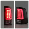 Spyder Black Fiber Optic LED Tail Lights | 2009-2018 Dodge Ram w/o Factory LED | Dale's Super Store