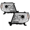 Gas Truck Parts - Toyota Truck Parts - Spyder - Spyder® Chrome LED DRL Bar Projector Headlights | 2005-2011 Toyota Tacoma