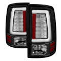 Lighting - Tail Lights - Spyder - Spyder® Black Fiber Optic LED Tail Lights | 2013-2018 Dodge Ram w/Factory LED
