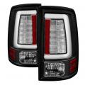 Lighting Products - Tail Lights - Spyder - Spyder® Black Fiber Optic LED Tail Lights | 2013-2018 Dodge Ram w/Factory LED