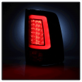 Spyder Black Fiber Optic LED Tail Lights   2013-2018 Dodge Ram w/Factory LED   Dale's Super Store