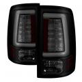 Lighting Products - Tail Lights - Spyder - Spyder® Black/Smoke Fiber Optic LED Tail Lights | 2013-2018 Dodge Ram w/Factory LED