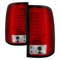 Spyder - Spyder® Chrome/Red Fiber Optic LED Tail Lights | 2007-2014 GMC Sierra