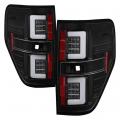 Lighting Products - Tail Lights - Spyder - Spyder® Black Fiber Optic LED Tail Lights | 2009-2014 Ford F-150