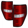 Ford F-150 Lighting Products - Ford F150 Tail Lights - Spyder - Spyder® Red/Clear Fiber Optic LED Tail Lights | 2009-2014 Ford F-150