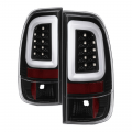 Lighting | Ford F250-F550  - Tail Lights For Ford F-250 to F-550  - Spyder - Spyder® Black Fiber Optic LED Tail Lights | 2008-2016 Ford Super Duty