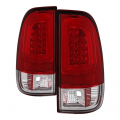 Lighting | Ford F250-F550  - Tail Lights For Ford F-250 to F-550  - Spyder - Spyder® Red/Clear Fiber Optic LED Tail Lights | 2008-2016 Ford Super Duty