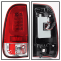 Spyder Red/Clear Fiber Optic LED Tail Lights | 2008-2016 Ford Super Duty | Dale's Super Store