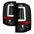 Lighting Products - Tail Lights - Spyder - Spyder® Black Fiber Optic LED Tail Lights | 2007-2014 Chevy Silverado